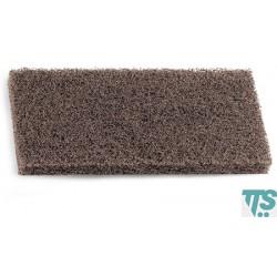 Tampon marron Terfir abrasifs nylon et polyester 25x12x2cm