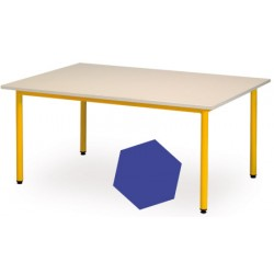 Table maternelle Manon hexagonale diam. 120 cm T1 a T3