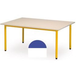 Table maternelle Manon demi ronde 120x60 cm T1 a T3