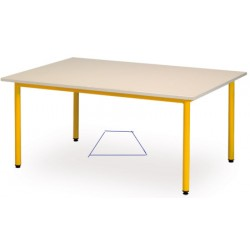 Table maternelle trapeze Manon 120x60x60 cm T1 a T3