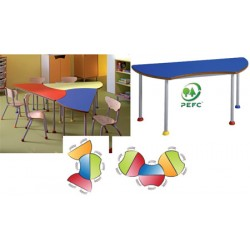 Table maternelle Zinzin 120x51,5cm T1 à T4