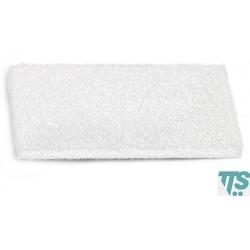 Tampon blanc Terfir abrasifs nylon et polyester 25x12x2cm