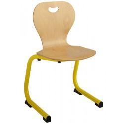 Chaise coque bois appui sur table maternelle T0 à T2