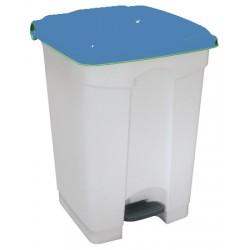 Collecteur JVD à pédale HACCP couvercle bleu 45 L