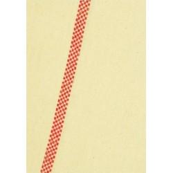 Lot de 100 torchons coton écru 2 liteaux damiers rouge 60x90 cm