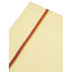 Lot de 100 torchons coton écru liteaux couleur 60x80 cm