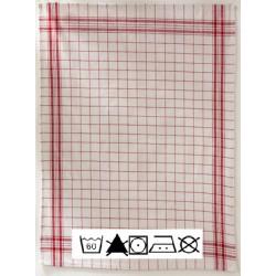 Lot de 6 essuies verres 50x70 cm coton quadrille