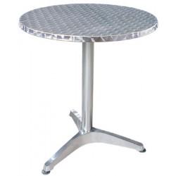 Guéridon aluminium diam 60 cm H70cm
