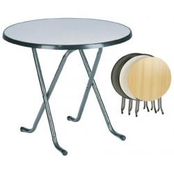 Lot de 4 tables pliantes Hédé ø 80xH74 cm