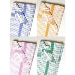 Lot de 200 serviettes coton gauffre blanc encadre couleur 60x90 cm