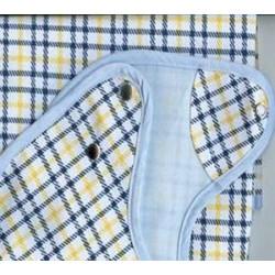 Lot de 12 bavoirs ecossais 50x85 cm coton enduit PVC 350 gr