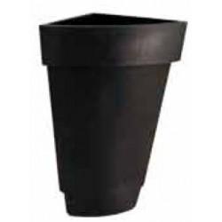 Quart de pot décoratif rond double peau ø 40xP40xH82 cm 17L