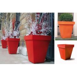 Pot décoratif carré simple peau 63x63xH73,5 cm 85L