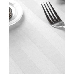 Nappe satin polycoton blanc 250x260 cm