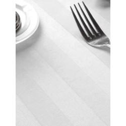 Nappe satin polycoton blanc 190x190 cm
