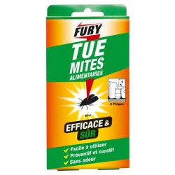 Lot de 14 sachets de 2 pieges à mites alimentaires Fury