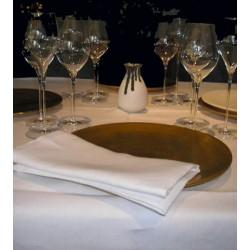 Lot de 10 nappes rondes diam 235 cm toile blanc 230 ggamme lin