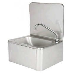 Lave mains inox complet avec distributeur de savon L40xp33,5xh53,5 cm