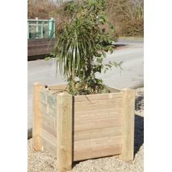 Jardinière bois Valence 80x80x80 cm à monter