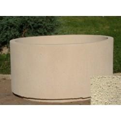 Jardinière ronde 254L diam 100xH55 cm ton pierre sablé
