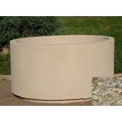 Jardinière ronde 254L diam 100xH55 cm gravillons lavés gros