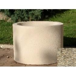 Jardinière ronde 59L diam 60xH45 cm gravillons lavés fins