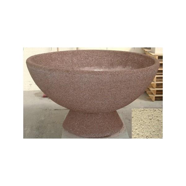Jardinière vasque 490L diam 150xH65 cm finition pierre