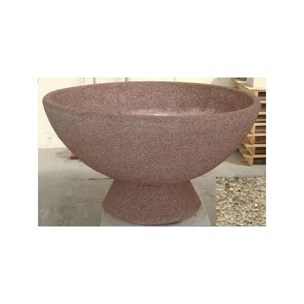 Jardinière vasque 490L diam 150xH65 cm gravillons lavés fins