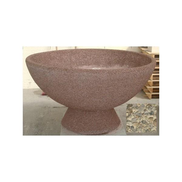 Jardinière vasque 490L diam 150xH65 cm gravillons lavés gros