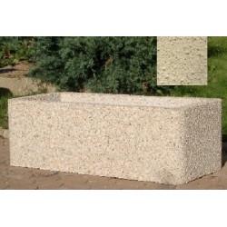 Jardinière rectangulaire 112x52xH38 cm ton pierre sablé