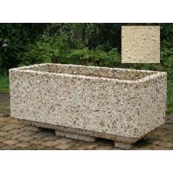 Jardinière rectangulaire 125L 112x52xH50 cmton pierre sablé