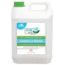 Lot de 4 bidons 5L liquide vaisselle main Ecolabel Action Verte