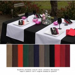 Lot de 10 chemins de table 55x140 cm polycoton coloris foncé