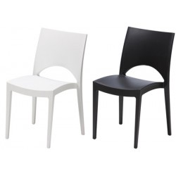 Lot de 24 chaises empilables Plaisance coloris std