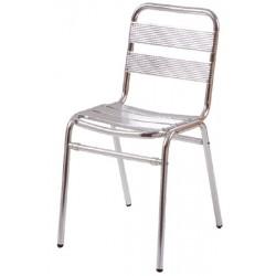 Lot de 4 chaises aluminium empilables Albane
