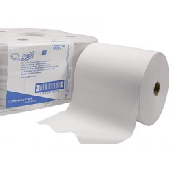 Carton de 6 rlx essuie mains Scott Airflex blanc 1p 304m