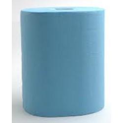 Carton de 6 bobines à dévidage central ouate bleue 450f 20 x 25 cm