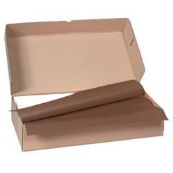 Carton de 500 nappes papier 70 x 70 cm chocolat