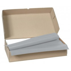 Carton de 500 nappes papier 70 x 70 cm gris