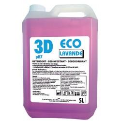 Détergent désinfectant désodorisant 3d eco lavande 5L