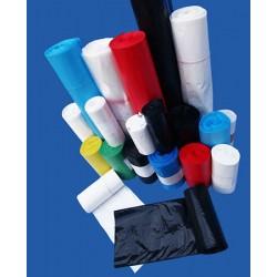 Carton de 20 rlx de 50 sacs poubelles 30L hd 13 microns noir