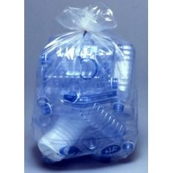 Carton de 20 rlx de 25 sacs poubelles 50L bd 22 microns nf transparent