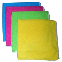 Sachet de 5 lavettes microfibre light multi usages 40 x 40 cm jaune