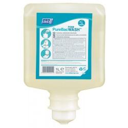 Carton de 6 mousses lavantes bactericides fongicides purebac foam wash 1L