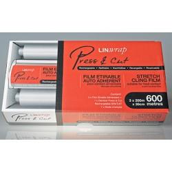 Film alimentaire press cut en boite distributrice 300 x 0,45 m