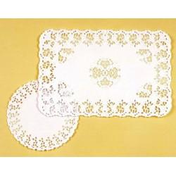 Paquet de 250 dentelles rectangulaires papier blanc 30 x 40 cm