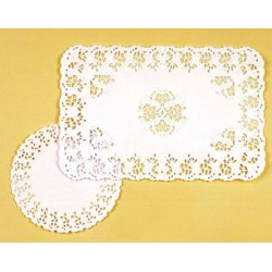 Paquet de 250 dentelles rectangulaires papier blanc 35 x 45 cm