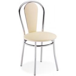 Lot de 2 chaises Tulipan assise et dossier tissu groupe 0 pieds chromé