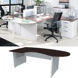 Bureau compact  Manager Néo réglable en hauteur L 200 cm  retour à gauche