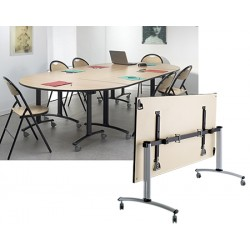 Table rabattable mobile Celcius 120x70 mélaminé 22 mm chant PVC